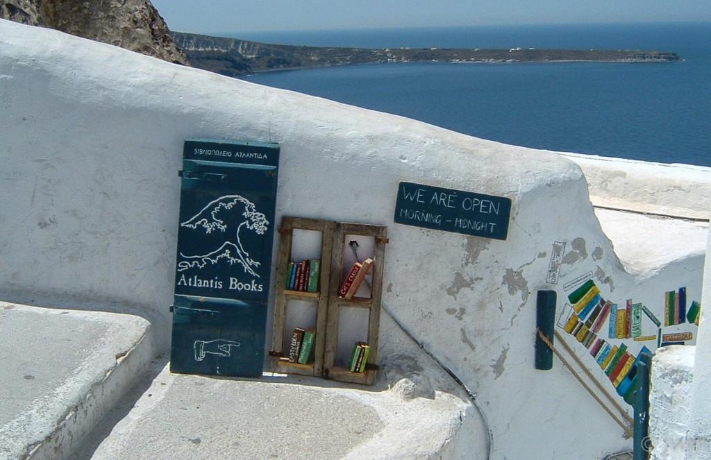 Buchladen auf Santorini